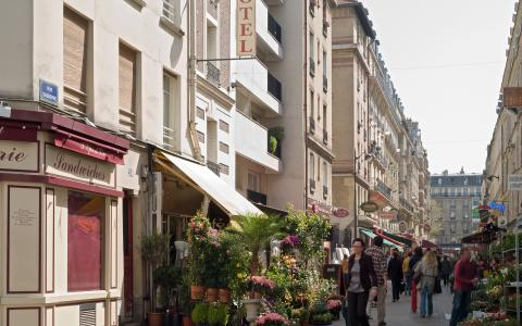 La rue piétonne Daguerre